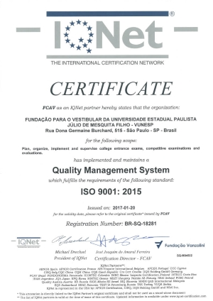 Certificacao IQNet